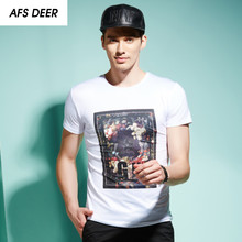 Fashion Men's t-shirts Custom Design Unique Flower T Shirt New Arrival Male Tee shirt Masculine Summer Cotton Clothing