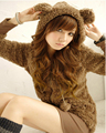 2016 autumn new fashion wind college Korean women's popularity  cute kawaii jacket rabbit ears Bear Plush Hooded Jackets