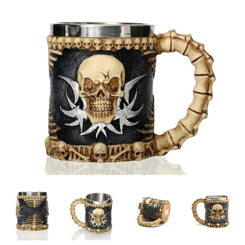 Image 5 - 2019 New Style 3D skull shape Cup Game of thrones Coffee Beer Cup Mug 13oz Best Gift For Boyfriend-in Mugs from Home & Garden