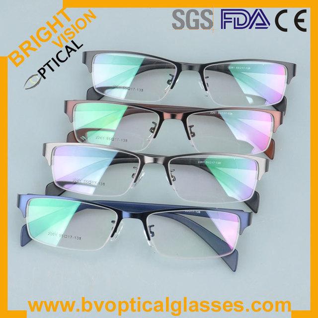 2261 aro Completo e Novo modelo delicado metade aro de metal armações de óculos óculos óculos de miopia prescrição