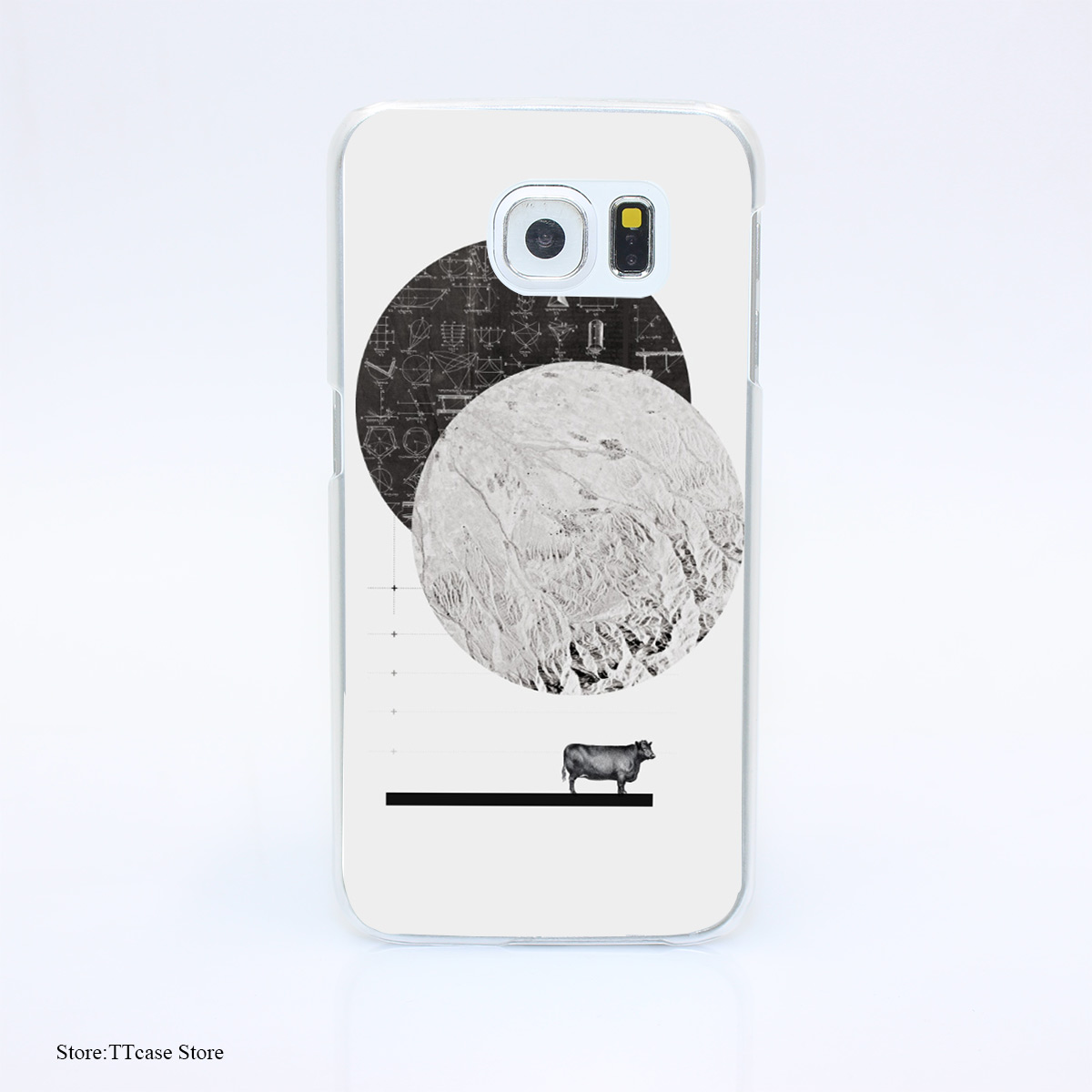 525G font b Calculating b font a Jump Over The Moon Print Hard Transparent Case Cover