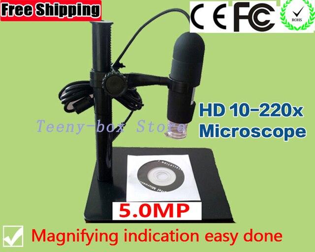 Mikroskop cyfrowy usb endoskop lupa kamera 200x5.0 mp włókna