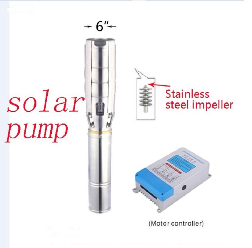 AC380V/220V/DC216V 6 Inch 3000W Hot Solar Deep Well Water Pump Big Flow Farm Irrigation 3 Years Warranty 6SPSC35/63 D216/3000