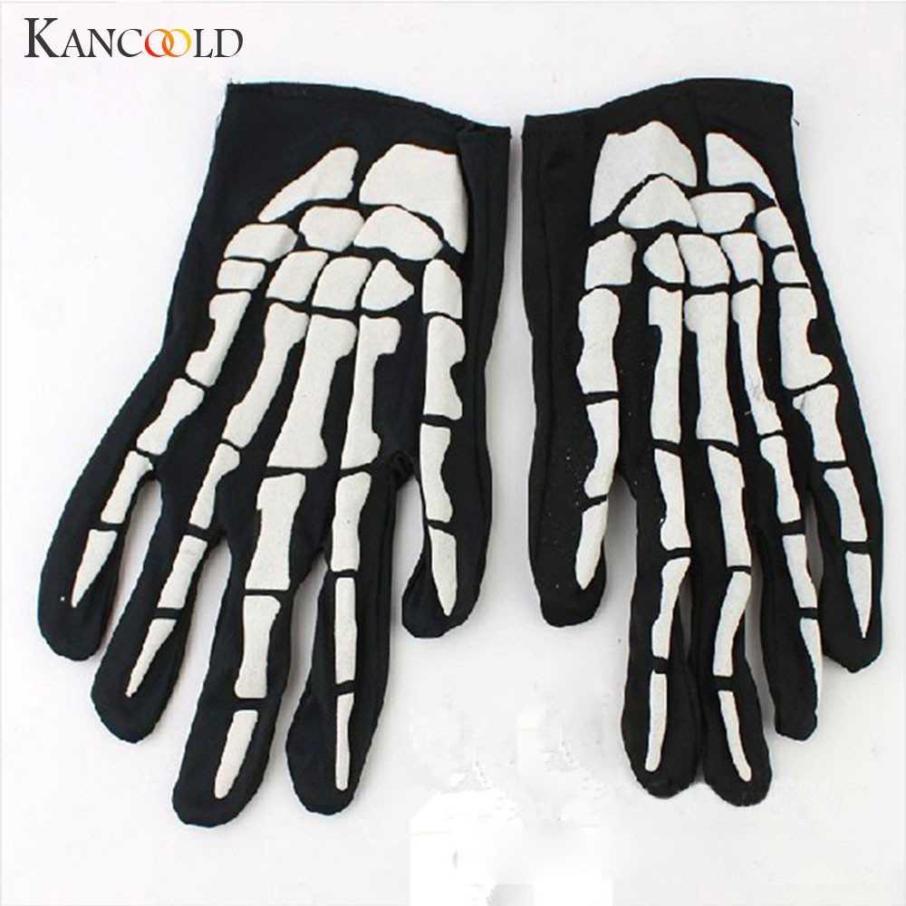 KANCOOLD eldiven cadılar bayramı korku kafatası pençe kemik İskeleti Goth yarış tam eldiven yüksek kalite moda eldiven kadın 2018NOV23