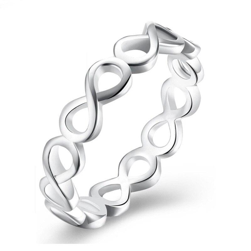 Модное Сверкающее циркониевое серебряное кольцо для женщин, цветочное сердце, корона, кольца на палец, фирменное кольцо, ювелирное изделие, Прямая поставка - Цвет основного камня: 39