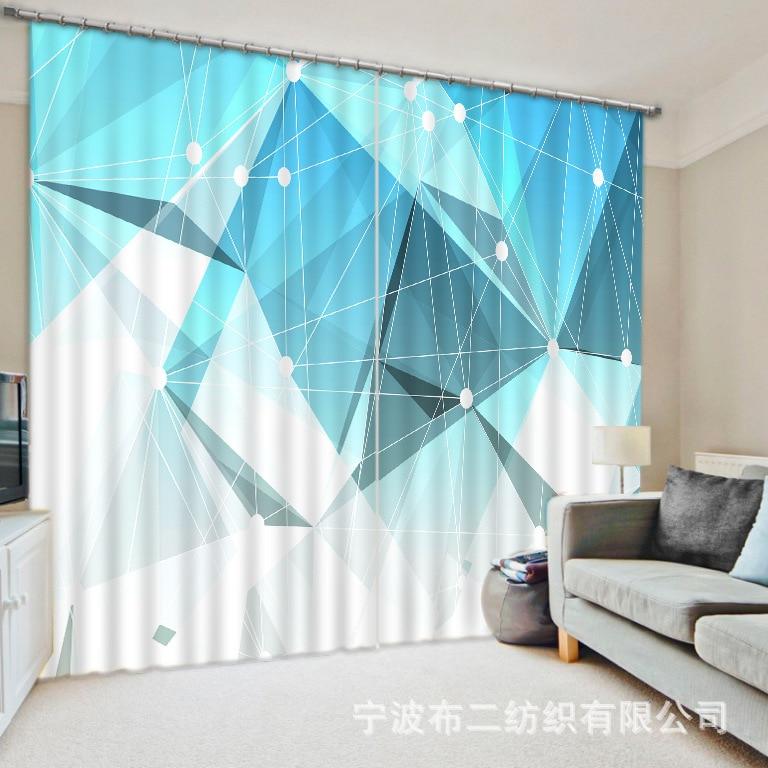 Lujo chino moderno simple diamante 3D Blackout cortinas de la ventana - Textiles para el hogar