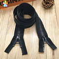 2 pieces NO.8 Plastic resin Zipper 100-600cm Black color/Open end/Double slider/Chunk teeth long zip for bag tent free shipping