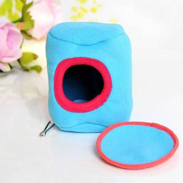 Warm Syrian Hamsters Parrot Nest Hamster Hammock Hanging Bed House Ferret Squirrel Toy Pet Winter Cages  HG9