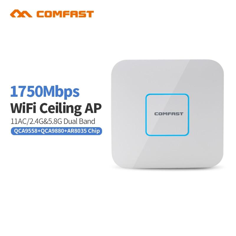 Prix pour COMFAST CF-E380AC Double Bande 2.4 + 5.8 GHz sans fil Plafond AP 1750 M Wifi Point D'accès AC routeurs extender Signal Booster Amplificateur