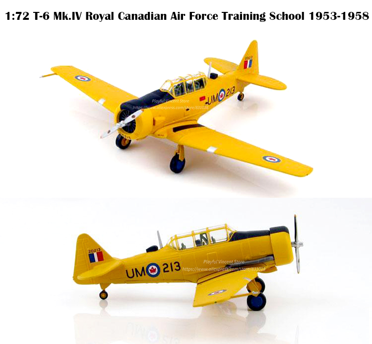 1:72 HA1524 T-6 Mk.IV Royal Canadian Air Force Training School 1953-1958  Fighter model  Alloy Collection Model1:72 HA1524 T-6 Mk.IV Royal Canadian Air Force Training School 1953-1958  Fighter model  Alloy Collection Model