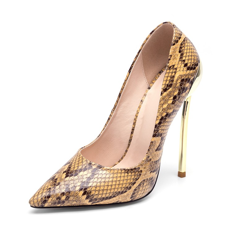Heel En Sexy Hauts Femmes Bout Serpent 12cm Talons Pointu Heel Fête Européenne De 12cm Américaine Métal Mode Peu Profonde Pompes Chaussures Chaussure À Printemps 1JclKF