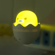 Popular Nightlight Cute Mini Yellow Duck Night Light Children's Bedroom Creative Cartoon Decor Lamp EU Plug