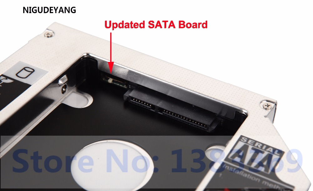 2nd Hard Drive SATA HDD Caddy Adapter Tray For ASUS K52F BBR9 K52JT XV1 Notebook
