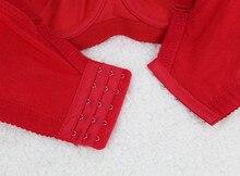 Women Sexy Lace Brassiere  Big Size Push Up Intimates Female Bra Tops Lingerie 85 90 95 100 C D Red Black Blue Super Underwear