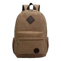 Vintage Men Canvas Backpack Fashion School Bag Casual Travel Rucksack Shoulder Bag