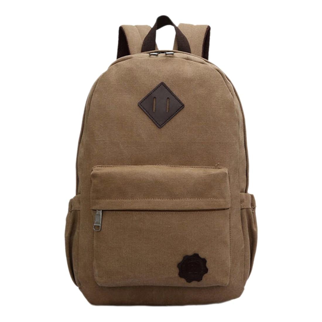 Vintage Men Canvas Backpack Fashion School Bag Casual Travel Rucksack Shoulder Bag game pokemon go pocket monste pikachu charizard backpack canvas print men women backpack bag travel bag rucksack