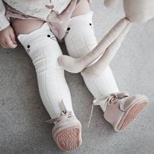 Lovely Baby Toddler Children Kids Girls Cat Cotton Knee High Socks Leggings