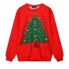 Autumn Winter Sweatshirts Harajuku Christmas Series Collection Long Sleeved Loose O-Neck Female Student Character Code