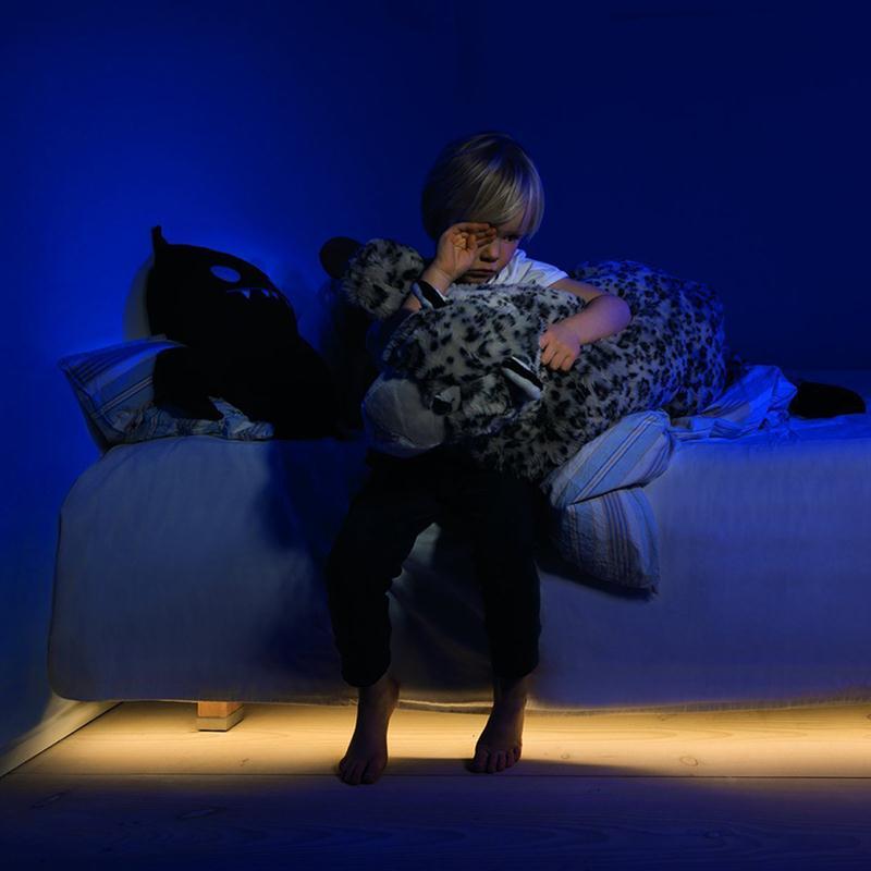Flexible LED Strip Motion Sensor Night Light Bedside Lamp Illumination & Automatic Shut Off Timer Part Bar Decoration(EU Plug)