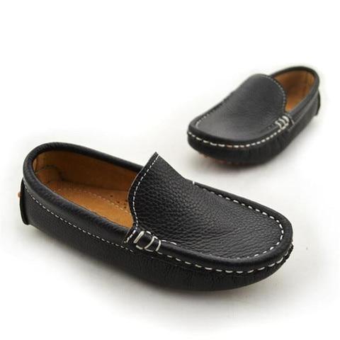 meninos sapatos de couro do bebe da