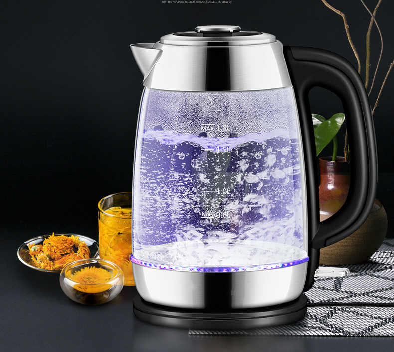 High quality electric kettle used automatic power failure 304 glass kettles Overheat Protection good electric kettle used automatic power failure hot kettle 304 stainless steel overheat protection
