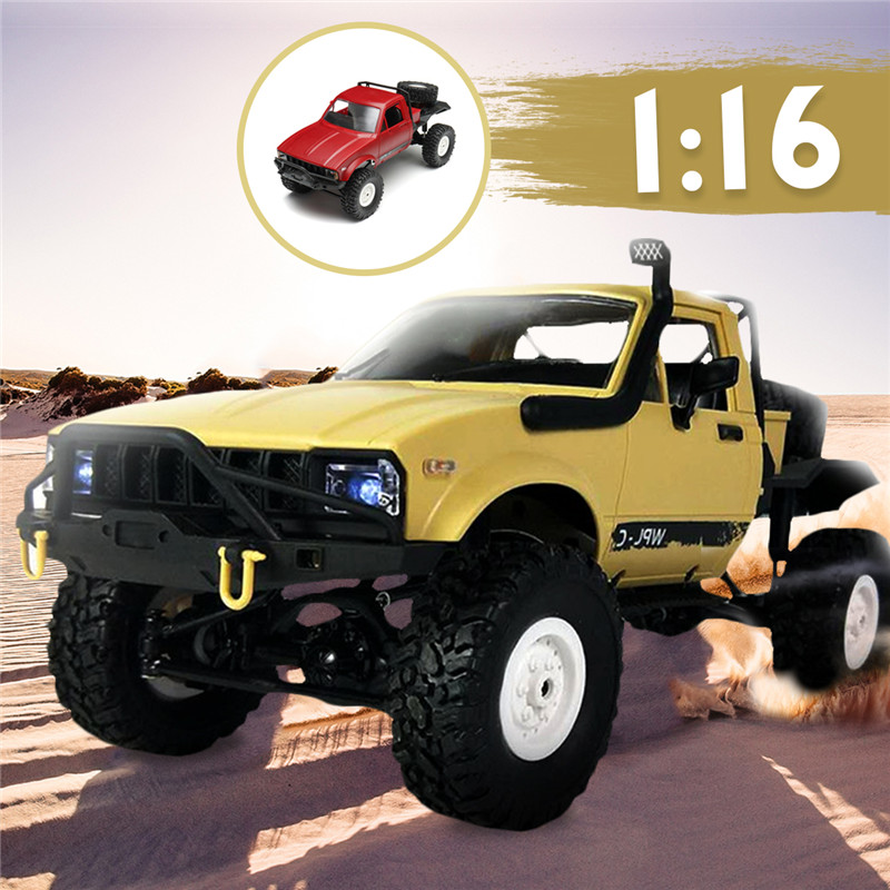 WPL C14 DIY Car Kit 1/16 2.4G 4WD RC Climb Semi Off Road Car With Light Without Electronic Part ATR Kids Gift Festival Present