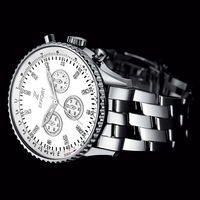 EFFORT 6 Hands Men Sport Chronograph Waterproof Reloj De Lujo Hombre Full Steel Wrist Quartz Watches