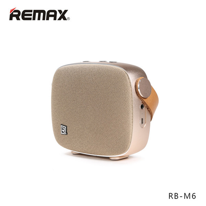 ФОТО REMAX RB-M6 Desktop Smart HIFI FM Radio Wireless Bluetooth 4.1 Speaker With NFC Mic Portable Handsfree For Cellphone For Tablet