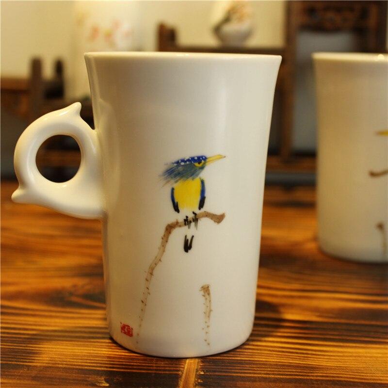 drinkware porcelāns balta keramika zakka tējas krūze krūze - Virtuve, ēdināšana un bārs - Foto 1