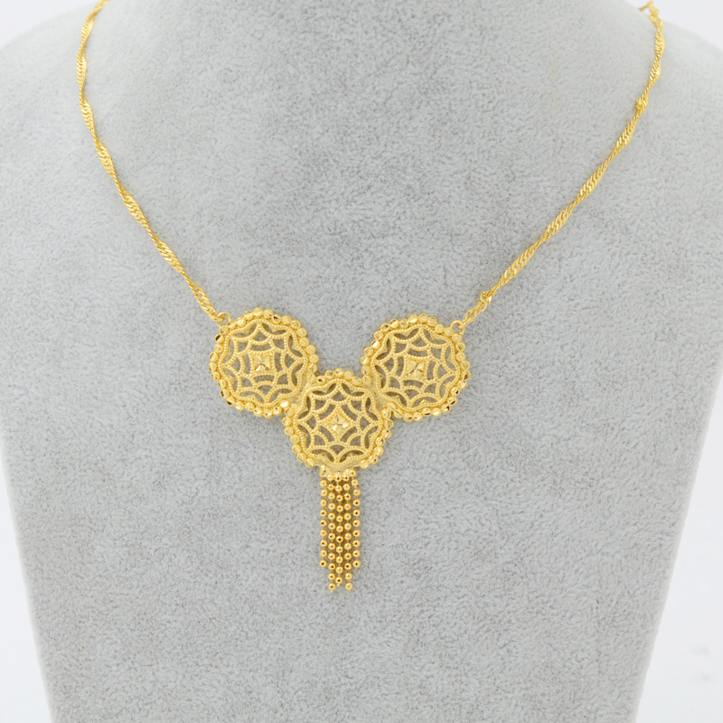 New ethiopian set jewelry 22k gold plated pendant necklace african new ethiopian set jewelry 22k gold plated pendant necklace african bridal jewelry women girl chain 45cm18 incheritrea wedding in chain necklaces from mozeypictures Choice Image