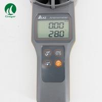 Yüksek Hassasiyetli anemometre rüzgar hızı ölçer AZ8916 Ölçüm Hava Hızı  Ses  Sıcaklık