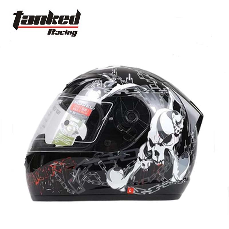 2017 New Fashion German tanked Racing full face motorcycle helmet tank T112 the electric vehicle safety helmets warm winter
