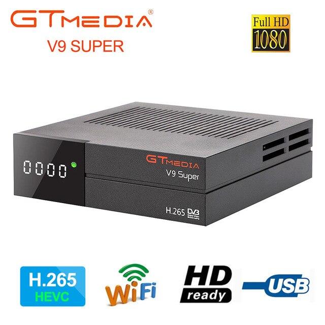 V9 Super GTMEDIA Satellite Receiver Bult-in WiFi with 1 Year Spain Europe Cline DVB-S2 Full HD TV Box GT Media V9 Super Receptor