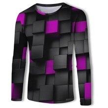 2019 Autumn Newest 3D printed t shirt men Cotton Casual Long Sleeve Tops Tee fashion funny t-shirt High quality Brand tshirt