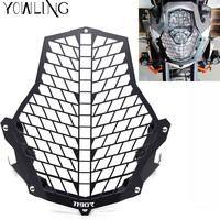 With 1190R 1290S LOGO Motorcycle Headlight Protector Guard Lense Cover Grill For KTM 1190 Adventure 1190R
