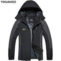YIHUAHOO Mens Jacket And Coats Hooded Casual Mountain Brand Thin Jacket Windproof Waterproof Soft Shell Windbreaker Men BES F178