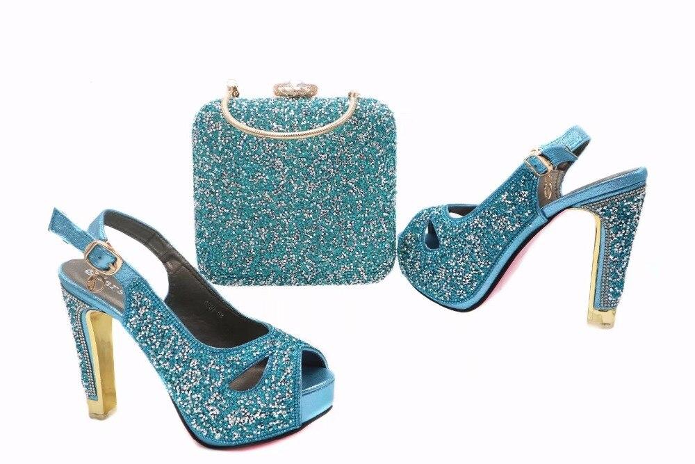 Africain Ciel Et 2017 Qualité Italiennes Sac Ensembles Ensemble Chaussures Dames Pu Haute OwqfqTYS