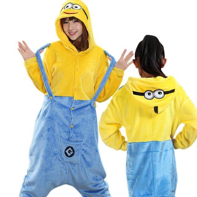 4f9f90dcd8af03 R$ 198.46 |Roupas da família pijama natal Minions Cosplay Kigurumsi  crianças conjunto Pijamas Onesies Animais adultos Pijama presente de Natal  para ...