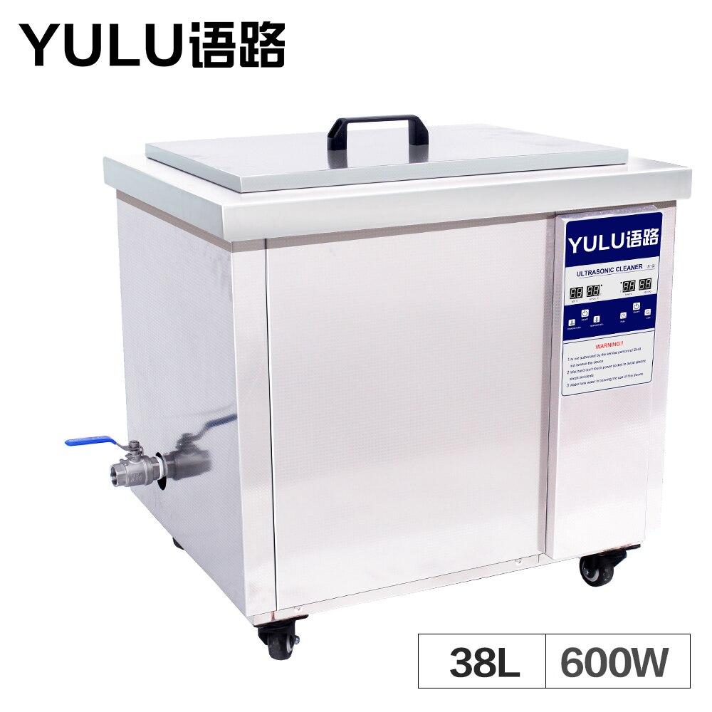 Machine de nettoyage à ultrasons industrielle 38L Circuit imprimé bloc moteur pièces de chauffage nettoyant bain temps verrerie réservoir à ultrasons