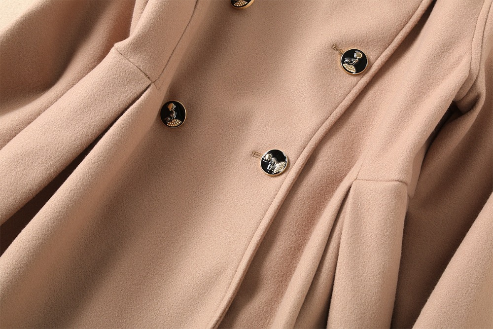 Boutonnage Vers Le Feminino Trench Casaco 2018 Manteau Bas Laine Long Double Mujer Hiver Femmes Tournent À BwwvxRnS