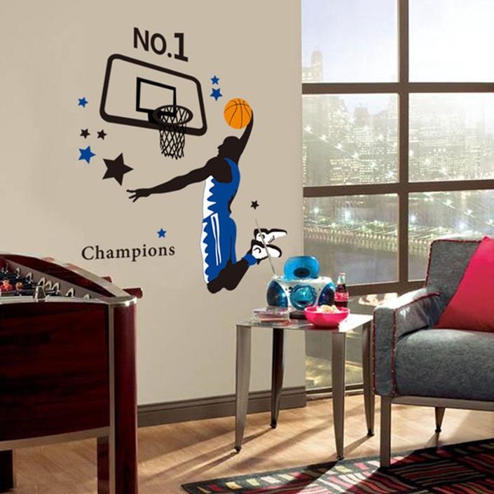 Dernières 90 * 110 Cm Mode Sport Wall Sticker Autocollant
