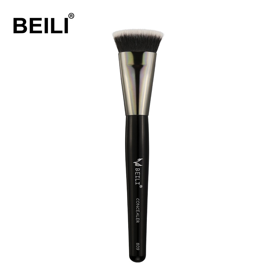 BEILI 1 piece Black Make up Brush Synthetic hair Concealer Foundation Face Contour Single Makeup Brushes makeup brushes