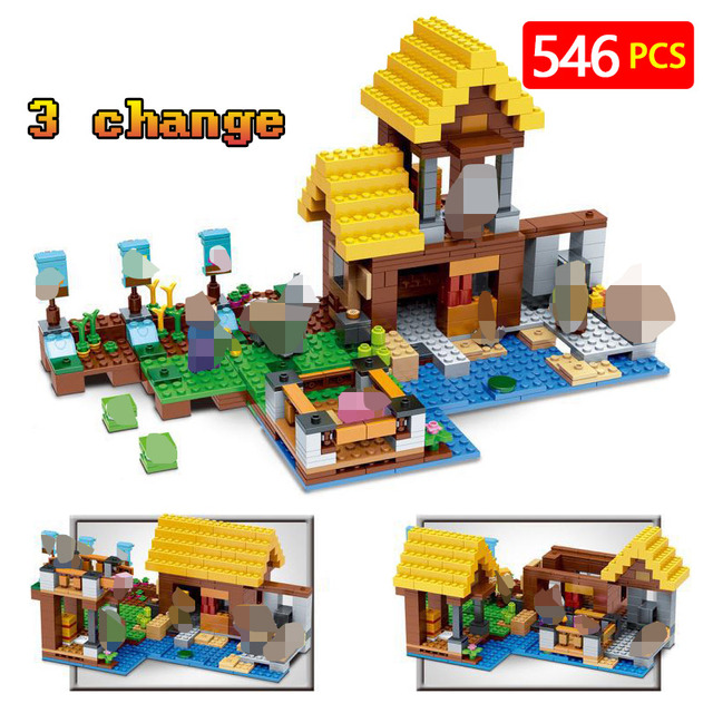615824d770bc New Technic LegoINGLYs Minecrafter Village Toys For Children Classic The  Farm Cottage DIY Bricks Mini Action figures