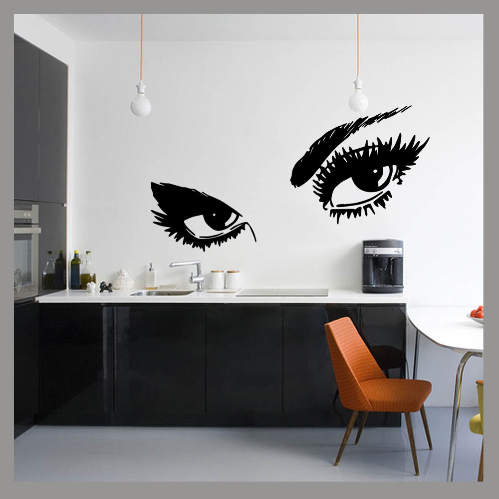 Aliexpress.com : Buy Large Ladies Eyes Glam Beauty Pop Wall Art Decal  Sticker Mural Bedroom Decal Vinyl Transfer Stencil Mural Room Decor From  Reliable Room ... Part 88