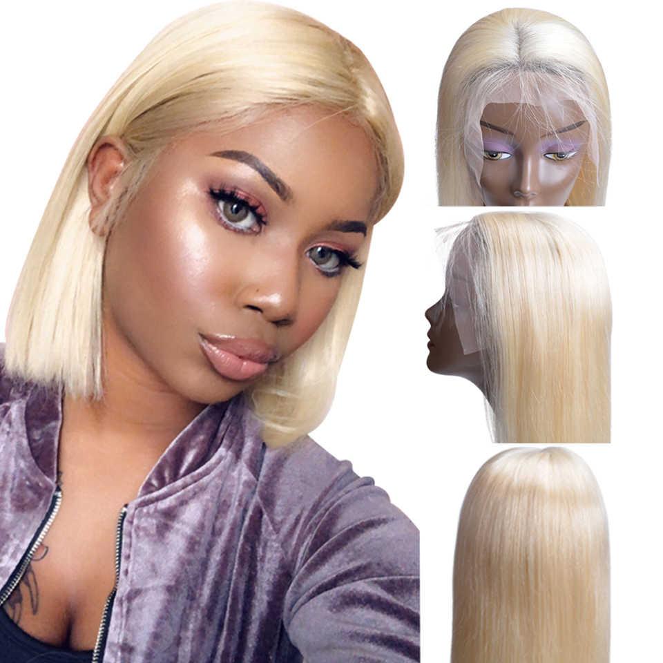 1B 613 Ombre блондинка синтетические волосы на кружеве человеческие Искусственные парики для черный для женщин Бразильский коротки