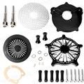 Corte profundo Sistema de Venturi Air Filter Cleaner Intake Para Harley Touring 99-07 Peças