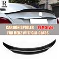 W117 PSM Стиль углеродного волокна спойлер на задний багажник  крыло для Benz C117 W117 CLA180 CLA200 CLA260 CLA45 AMG 2013-2019
