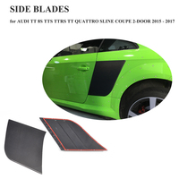 For Audi TT 8S TTS TTRS TT Quattro SLINE Coupe 2 Door 2015 2016 2017 Factory Carbon Fiber Rear Door Side Fenders Trim Decoration