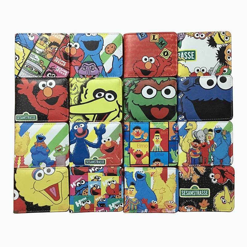 Elmo wallet Set of 3 Children Boys Girls Wallet Kids Cartoon Coin Purse