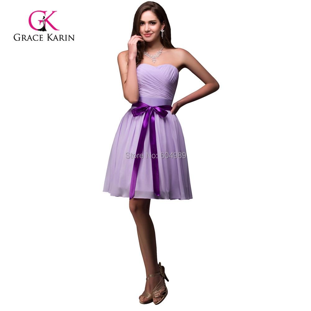Aliexpress.com : Buy Modest Cheap Purple Bridesmaid Dresses under ...